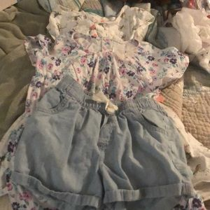 Carter's Lot of 3 size 6 dresses/shorts